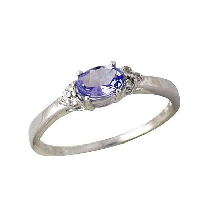 10K White Gold Tanzanite Ring