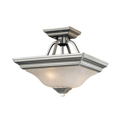 2 Light Semi-Flush Mount