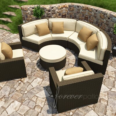 Forever Patio Hampton 5 Piece Deep Seating Group with Cushion