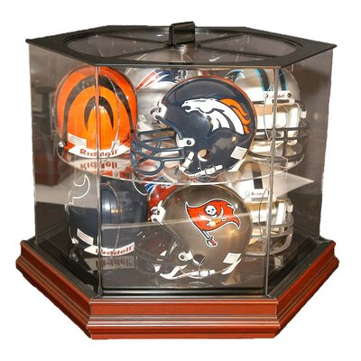 Caseworks International Boardroom 8 Mini Helmet Rotating Display Case