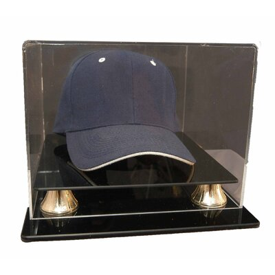 Caseworks International Cap Display with Gold Risers in Acrylic
