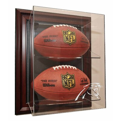 "Caseworks International Two Football ""Case-Up"" Display in Mahogany"