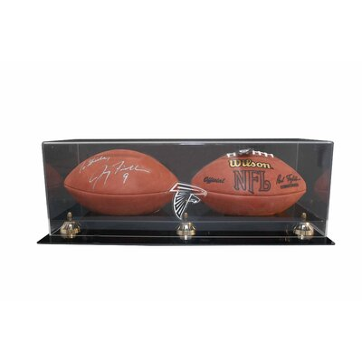 Caseworks International Double Football Display with Gold Risers