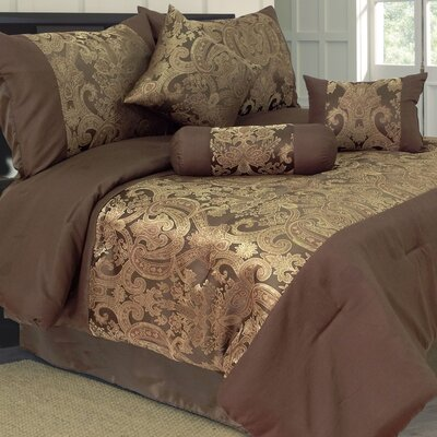 Lavish Home Bailey 7 Piece Jacquard Comforter Set