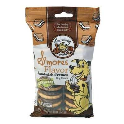 Exclusive Dog Cookies S'mores Flavor Sandwich Cremes Dog Treat