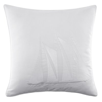 Southern Tide Maritime Ship Embroidered Cotton Decorative Pillow