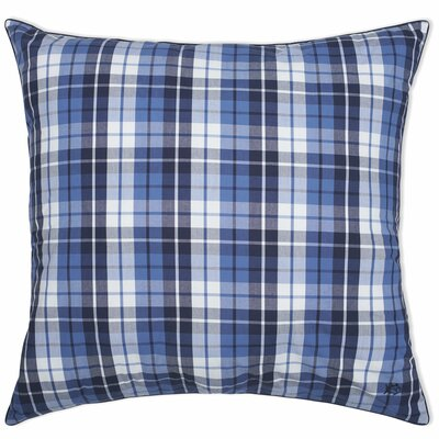 Nautical Plaid Yarn Dyed European Square Pillow