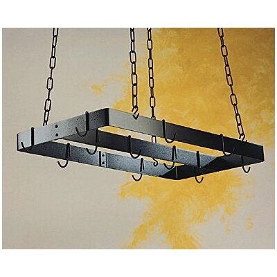 Rogar Gourmet Ceiling Mount Pot Rack with Centerbar