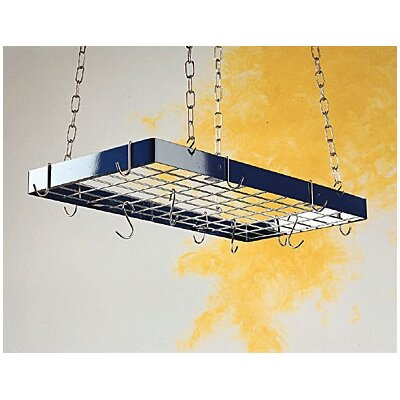 Rogar Custom Rectangle Ceiling Mount Pot Rack with Grid