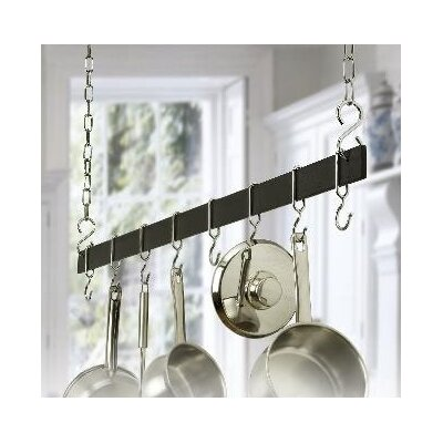 Rogar Gourmet Hanging Bar Pot Rack