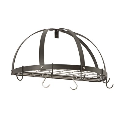 Gourmet Half Dome Wall Mounted Pot Rack with Grid