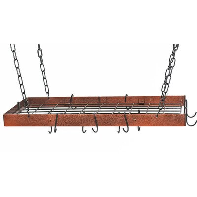 Rogar Gourmet Hammered Hanging Pot Rack