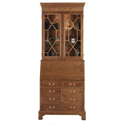Jasper Cabinet Traditions Oak Computer Secretary with Hutch