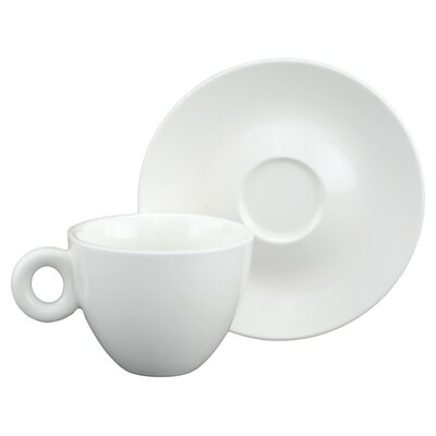 Tannex White Tie Coffee/Cappuccino Cup and Saucer (Set of 4)