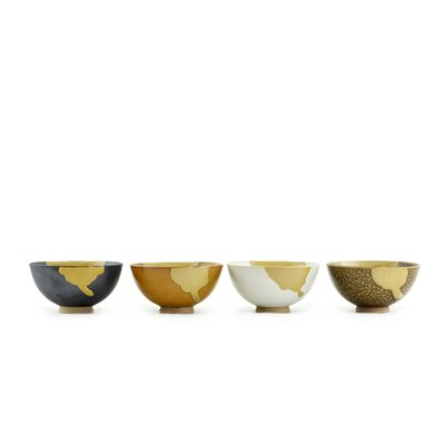 "Tannex 4.25"" Abstract Bowl (Set of 4)"