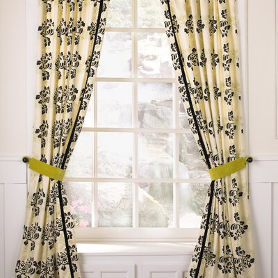 Cocalo Couture Shadows Velvet Rod Pocket Curtain Panel  (Set of 2)