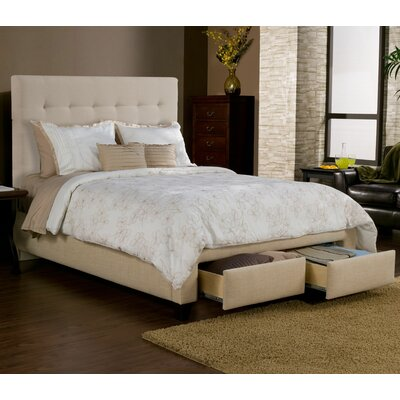 Casual Elegance Manhattan Storage Platform Bed with 2 drawers and headboard