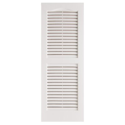 "Alpha Shutters Exterior 14"" x 25"" Louvered Shutter"