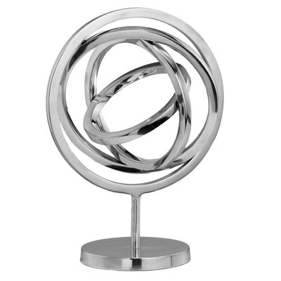 Modern Day Accents Spinning Armillary Sphere Sculpture