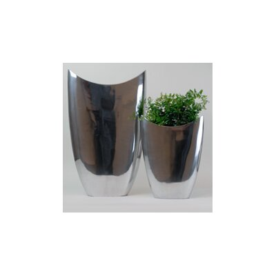 Modern Day Accents 2 Piece Oval Pointed Vase Set