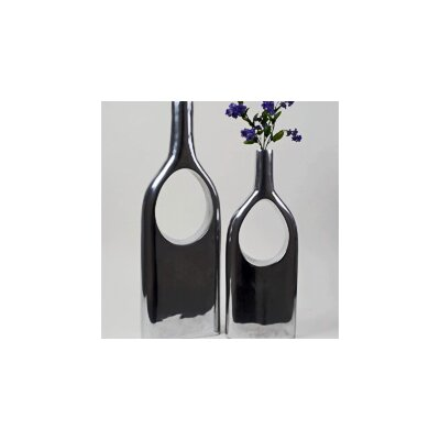 Modern Day Accents 2 Piece See Thru Bottle Vase Set