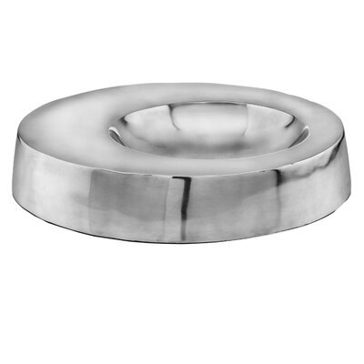 Modern Day Accents Aluminum Off Center Bowl