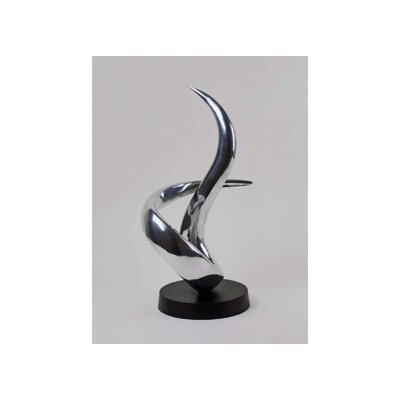 Modern Day Accents Aluminum Curl Entwined Sculpture