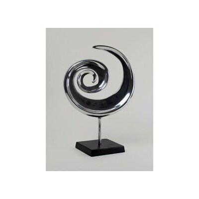 Modern Day Accents Aluminum Swirl Sculpture