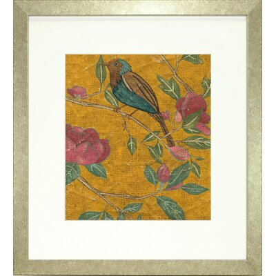 Floral Living Golden Chinoiserie I Framed Graphic Art