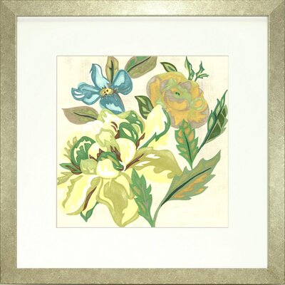 Floral Living Modern Chintz 1 Framed Graphic Art