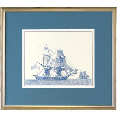 Seaside Living Sailings Ships 2 Framed Wall Art
