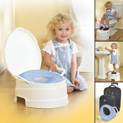 Primo 4 in 1 Soft Seat Toilet Trainer and Step Stool in White