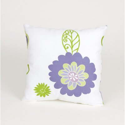 Sweet Potato by Glenna Jean LuLu Flowers Pillow on White Ground