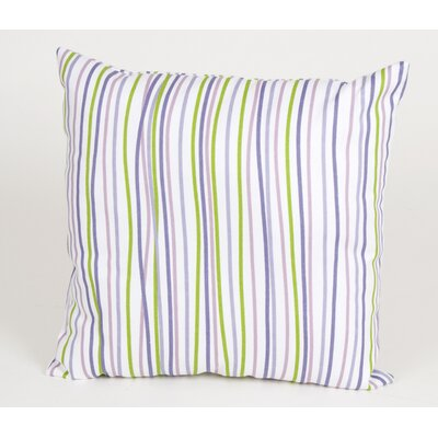 Sweet Potato by Glenna Jean LuLu Square Pillow with Stripes