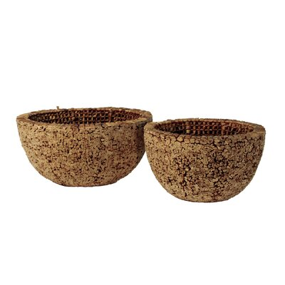 Ibolili Knotted Round Water Hyacinth Bowl (Set of 2)