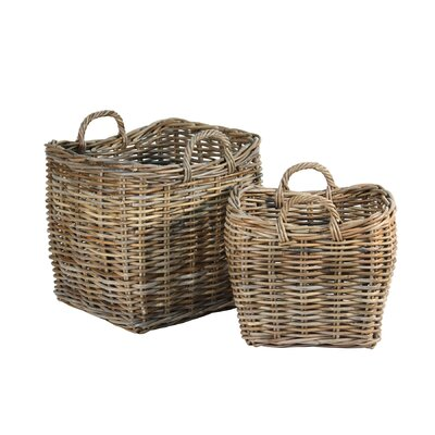 Ibolili French Fireplace Basket (Set of 2)