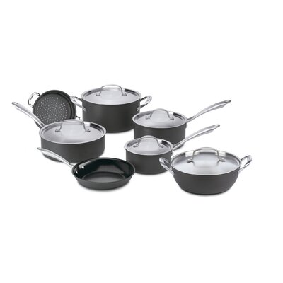 Cuisinart Green Gourmet Hard-Anodized Aluminum 12-Piece Cookware Set