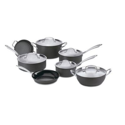 Cuisinart Green Gourmet Hard Anodized Aluminum 12-piece Cookware Set