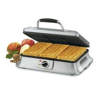 Cuisinart 6-Slice Traditional Waffle Iron in Brushed Stainless