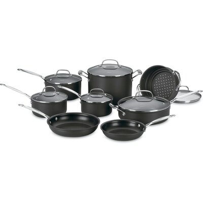 Cuisinart Chef's Classic Nonstick Hard Anodized 14-Piece Cookware Set