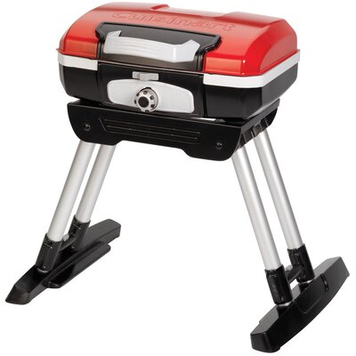 Cuisinart Petit Gourmet Portable LP Gas Outdoor Grill with Versa Stand