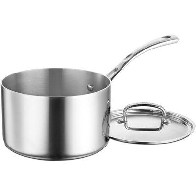 French Classic Stainless Steel 4 Qt. Saucepan with Lid