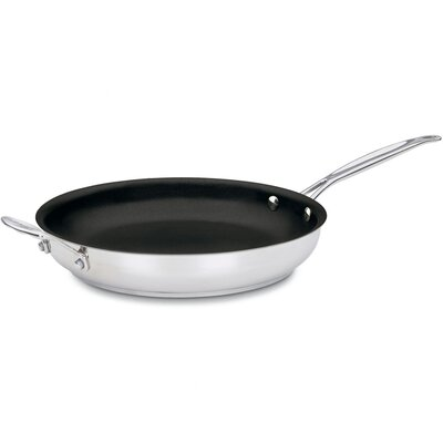 """Cuisinart Chef's Classic Stainless Steel 12"""" Nonstick Skillet"""