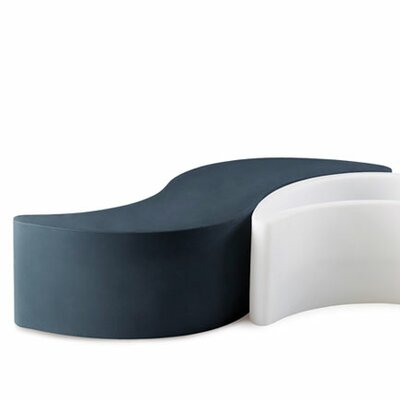 Slide Design Wave Polyethylene Entryway Bench
