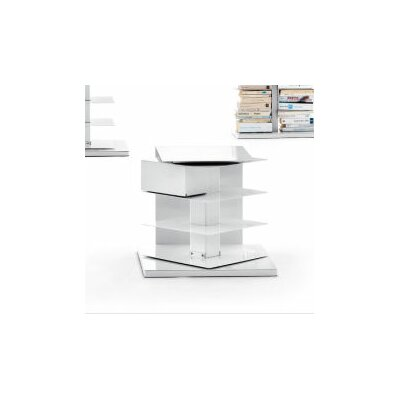 Opinion Ciatti Ptolomeo Vertical Short Bookcase-Bedside / Small Table Revolving 360°