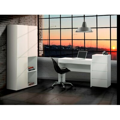 Nexera BLVD Desk with Flip Down Door