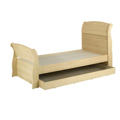 Nexera Alegria Twin Trundle Sleigh Bed in Natural Maple