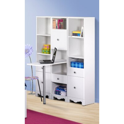 "Nexera Pixel 15"" W Bookcase Writing Desk"