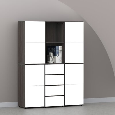 "Nexera Allure 36"" Storage Cabinet in Ebony"