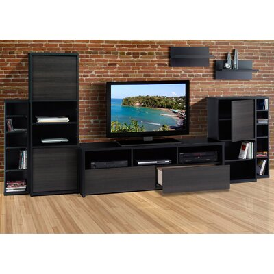 Nexera Sereni-T Two Door Bookcase in Black Satin/Ebony